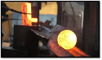 توپ سنگ زنی فولادی کوره اي