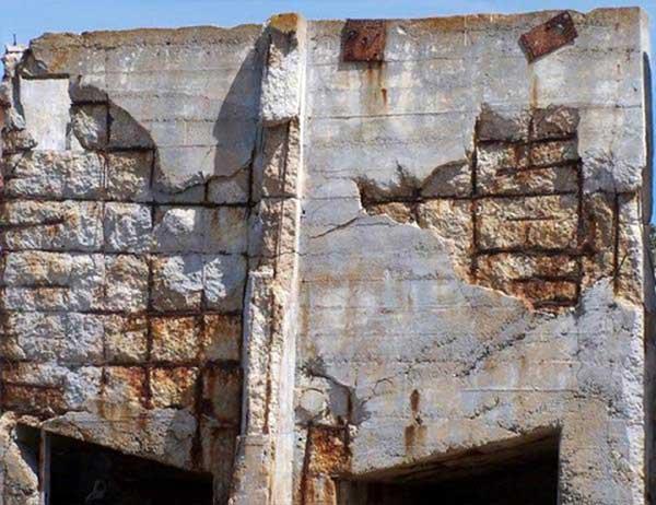 علت خوردگی فولاد در بتن
